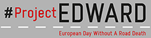 logo from project edward, euorean day withouta road death